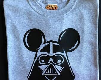 Darth Vader Mickey Ears Shirt . Star Wars Shirt . Customizable Star Wars Shirt