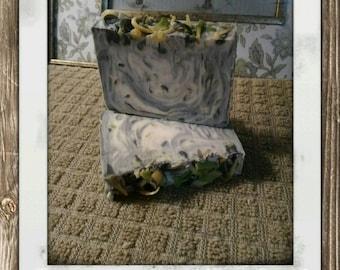 Goat Milk Soap: Lemongrass Confetti w/ Charcoal