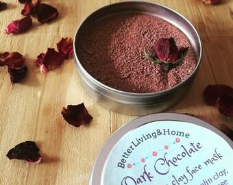 Dark Chocolate face mask / polish - Antioxidant Face Mask – Face Polish – Clay Face Mask – Blemish Face Mask – Valentine's day Gift