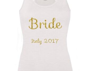 Personalised Bride Hen Party Bridal Party Vest Top