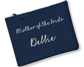 Personalised mother of the bride make up bag