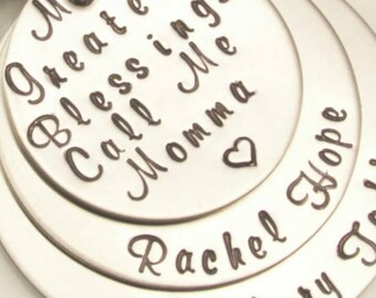 Hand stamped Made with love can make how ever u desire