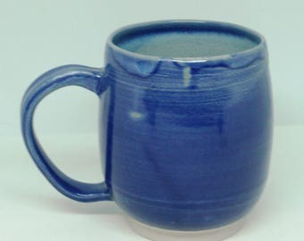 Blue on Blue Mug, Coffee Mug, Large Mug
