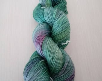 Hand-dyed wool active bamboo Elf forest