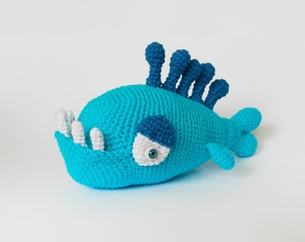 Amigurumi crochet pattern fish / crochet fish / easy crochet pattern / amigurumi sea / fish / amigurumi pattern animals / crocheted fish /