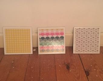2x Decorative Tile Coasters