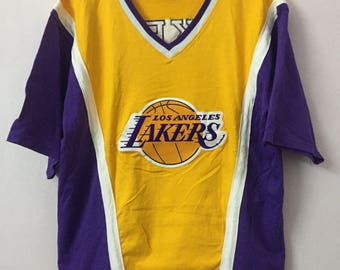 SALE ! Vintage CHAMPION LAKERS big logo embroidery size L