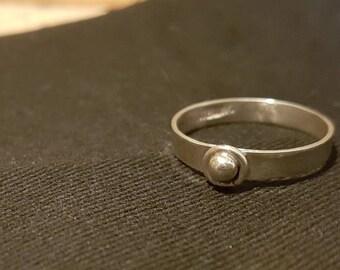 Sterling silver handmade ring