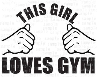 This Girl Loves Gym SVG, PNG, JPG files, Design for vinyl, Hands, cardio svg, gym svg, lifestyle design svg, jpeg download