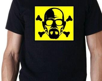 Breaking Bad heisenberg Skull Retro TV T-Shirt