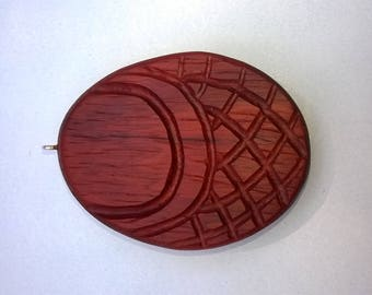 Necklace from Padouk wood