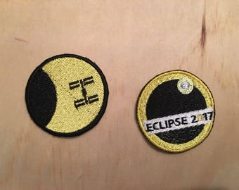 Eclipse 2017 Patch- ISS Transit Silhouette - NASA - Solar Eclipse - Space - Astronomy - Science - Moon - Sun - Nature - Shadow -