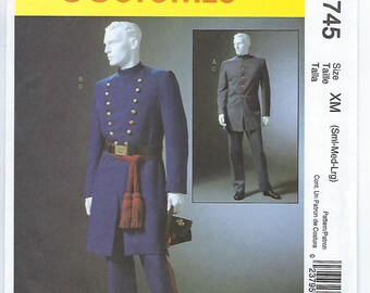 McCalls 4745 (XM) - MENS Civil War Costumes / S, M, L