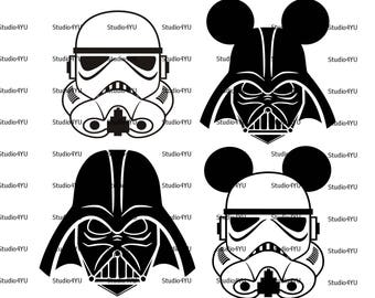 StraWars svg Star Wars svg Darth Vader svg Disney svg Stormtrooper svg Darth Vader Mickey svg files for cricut svg for silhouette