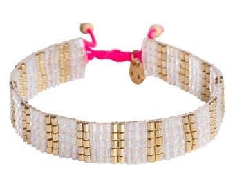 Gold striped bracelet