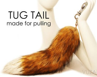 tail butt plug - fox tail butt plug - EXCLUSIVE TUG TAIL - butt plug – bdsm - tail plug - sex toys - fox tail plug - butt plug tail – mature