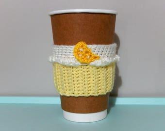 Lemon Cream Cupcake Coffee Cup Cozy
