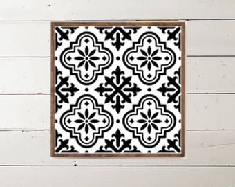 Moroccan Mosaic Wood Sign - Home Decor - Wood Signs - Wooden Signs - Wall Decor - Wall Art - Custom Wood Signs - Wall Decor - Home