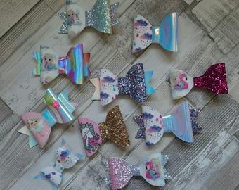New designs glitter hair bows