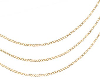 5 ft, 14K Gold Filled Drawn Cable Chain 1.5x1mm (GP-GF2302)