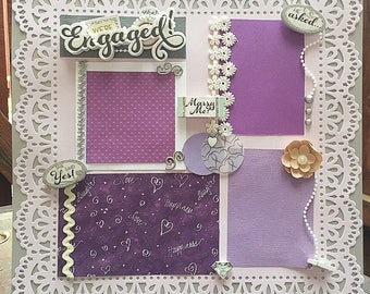 Wedding Premade Scrapbook Page   We re Engaged    Wedding Scrapbook   Premade  Scrapbook12x12 Premade Wedding Scrapbook Pages Premade Wedding Layout. Premade Wedding Scrapbook. Home Design Ideas