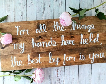 Wooden Quote Box Sign