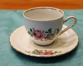 Schwarzenhammer Bavaria Germany Demitasse Cup and Saucer