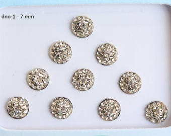 Silver Round Bindis Face Jewels,Wedding Round Bindis,Stone Bindis,Silver Bindis,India Bindis,Bollywood Bindis,Self Adhesive Stickers