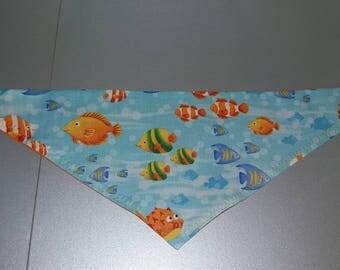 "Bandana - Tie for cats / dogs ""Fishes"""