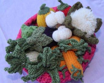 Knit/crochet vegetables
