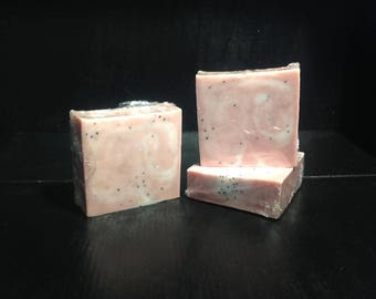 Peach Nectar with Poppy Seed, Triple Butter Soap Bar
