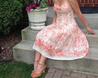 Elegant Sundress, Fully Lined, Sweetheart Neckline, Built in Bra, Boned Bodice, Comfortable and Flattering Fit