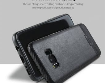 Samsung Galaxy S8 plus leather silicone case high quality cover