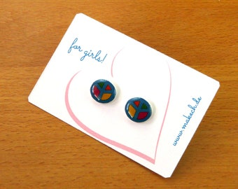 Girl children jewelry earrings peace earrings Silver 925