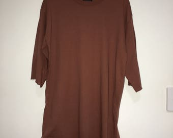 Zara Man Rust Streetwise Collection Yeezy Influenced Preloved Shirt Size M
