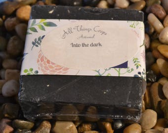 Into the Darkness-Charcoal Exfoliating Soap, Exfoliating soap, Natural soap, Artisanal Soap, Black Soap, Soap for Dry Skin and Charcoal Soap