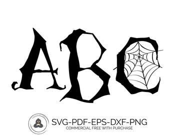 Halloween Font SVG Fonts Monogram Fonts, Monogram Font SVG, Monogram Fonts for Cricut, SVG Fonts for Cricut, Silhouette Font, Cameo Fonts