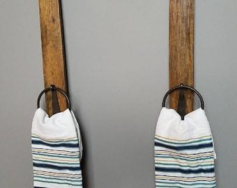 Bourbon Barrel Stave towel hanger