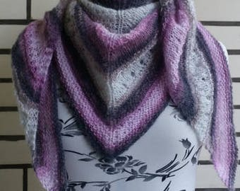 Triangular Knitted Scarf Handmade