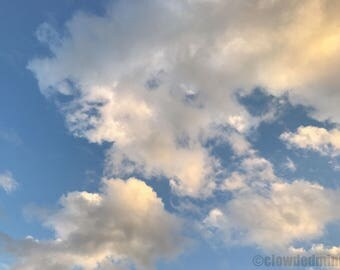 Gilded cloud photograph. 12x18 cloud photograph. Cloud photography. Nature photography. Sunset photography. Clouds and sky.
