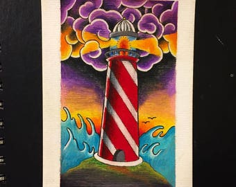 "Lighthouse Print (4""x6.25"")"