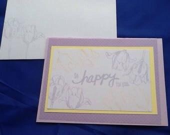 5 congratulation cards, handmade