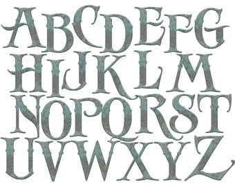Old | Etsy Old English Numbers Printable Free