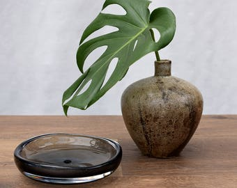 Holmegaard Smoke Gray Glass Ashtray
