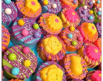 12 Trolls Chocolate covered oreos (Birthday, Trolls party favors, Chocolate)