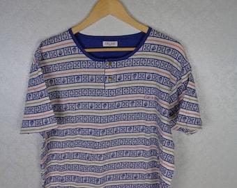 VTG 90s CELINE Fendi Dior CC Calvin Klein Versace  Polo Ralph Lauren Tommy Hilfiger Nautica Nike Supreme Adidas Crop Top Shirt Medium