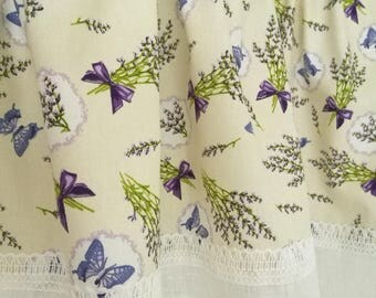 "Curtains for the kitchen/dining room ""Lavender"""