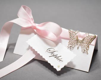 Wedding Place Cards | Wedding Name Cards | Name Cards | Escort Cards | Wedding Names | Place Settings | Pink Romantic