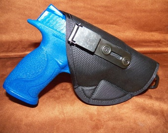 Smith and Wesson M&P 9/40 Inside the waist band non-slip holster with clip.