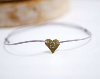 "Bracelet ""Little Heart"" ~ request letter ~ gold"